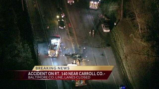 2 injured in Finksburg crash