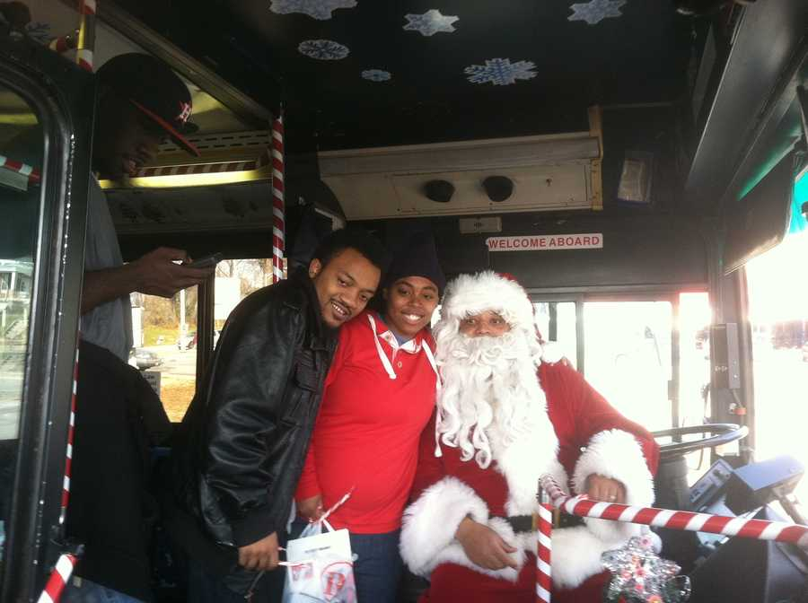 The Maryland Transit Administration's Santa Bus is rolling around looking for the naughty and nice. The nice get free rides.