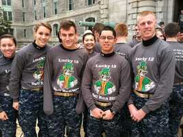 Midshipmen show their spirit across the U.S. Naval Academy and Annapolis in preparation for the 113th Army-Navy game. The mids are looking for their 13th consecutive victory.