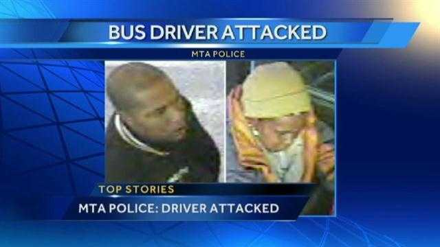 Maryland Transit Police said they are investigating the assault on an MTA bus driver by two passengers during peak hours.