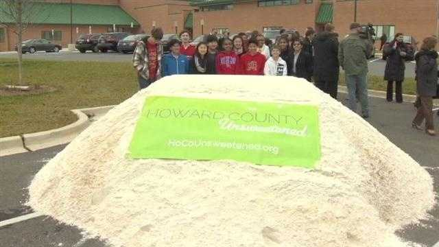 Howard County officials dump sugar in a community-wide campaign to reduce childhood obesity.