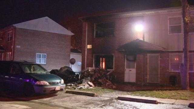 Baltimore City fire crews worked to put out a house fire in the southern part of the city early Wednesday morning.