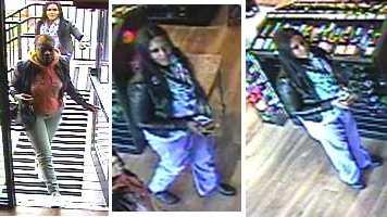 Women stole vodka surveillance photos