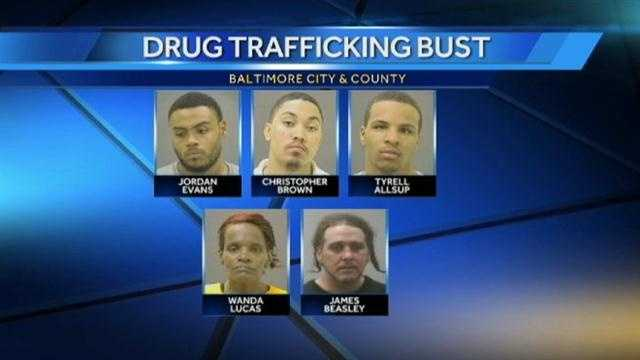 Authorities say a joint investigation over the past year led to a massive drug-trafficking bust this week that spanned Baltimore City and Baltimore County. It led tothe arrests of 34 people.