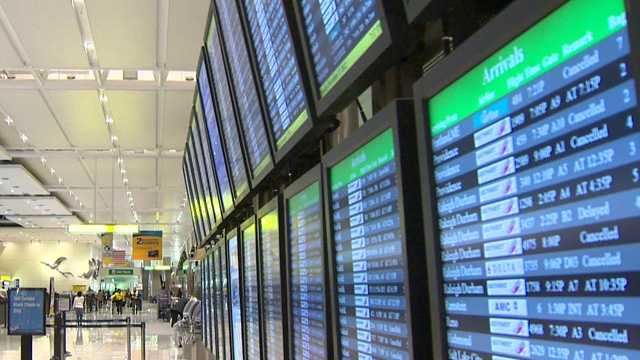cancellation board airport canceled flights