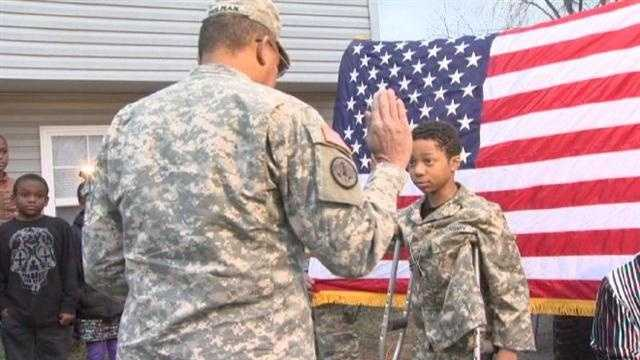 MILITARY SURPRISE FOR CHILD