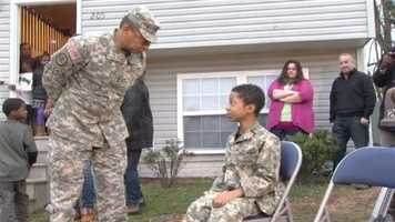A Baltimore boy with terminal cancer who has always wanted to be a soldier got a huge surprise from the 200th Military Police Command out of Fort Meade.