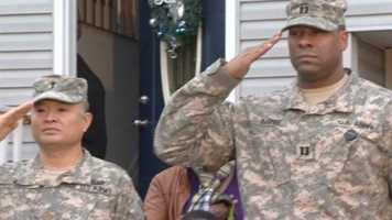 """""""This guy is tough. He's like what a real soldier is about. That's why we're happy to induct him into the Army,"""" Crawford said."""