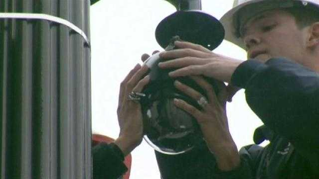 The city has installed one of 12 new crime cameras, bringing the total to 622 cameras.