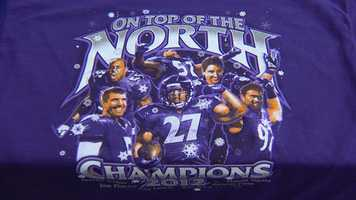 Now that the Baltimore Ravens have locked up the AFC North and are headed to the playoffs, more and more Ravens gear is starting to pop up. (Watch the story here)