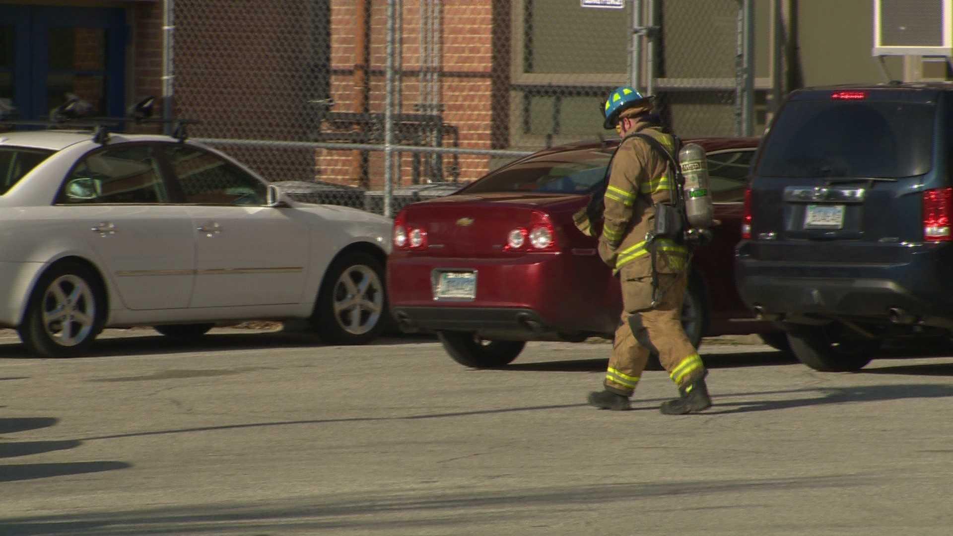 Bates Middle School explosion scene