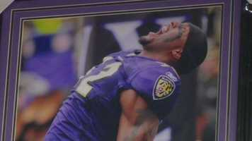 Most of the merchandise can be purchased at local retail stores that offer Ravens items.