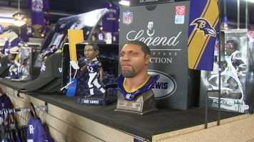 Area sports stores are enjoying post-season sales on Ravens merchandise, especially now that superstar linebacker Ray Lewis has announced he's retiring at the end of the season.