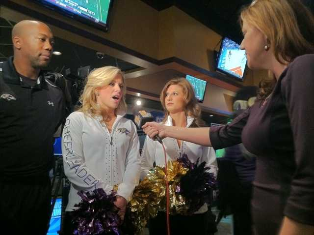 The kickoff of the Ravens Purple Caravan that makes its way all across the area.