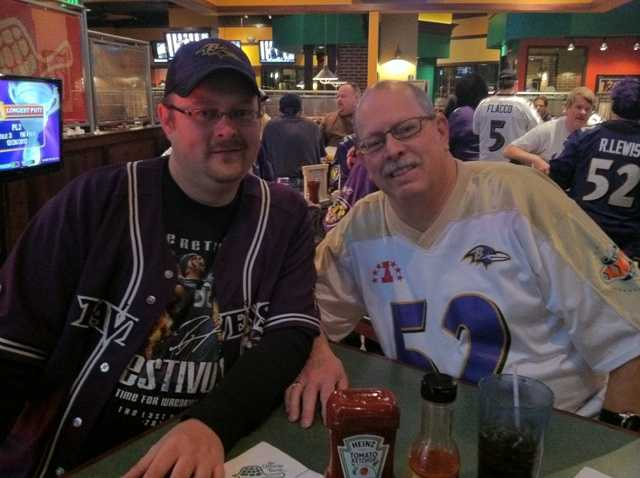 A pair of Ravens fans from Dundalk