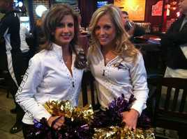 The Ravens cheerleaders are traveling all over the Baltimore area on the Ravens Purple Caravan