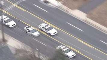 Three officers are injured in a police-involved chase that ended in Baltimore County with a woman being pulled out of a car and arrested.
