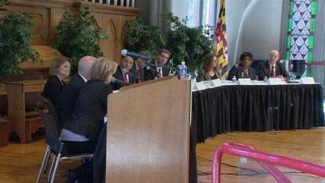 Consumer Financial Protection Bureau holds a public hearing in Baltimore to announce new rules as part of the federal government's efforts to stabilize the housing market.