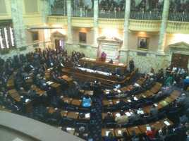 The House chambers as Session 2013 gets under way.