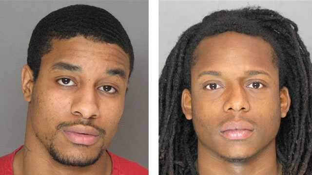 Police said Leonard Briscoe (left) andEric Isaiah Johnson (right) were arrested and charged in connection with a 2009 murder.