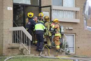A woman who was rescued from a third-floor apartment during a fire in Columbia on Friday morning is critically injured.