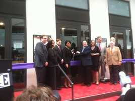 City leaders hold a ribbon-cutting for the event.