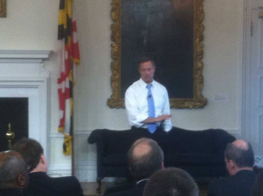 Gov. Martin O'Malley makes the budget presentation.