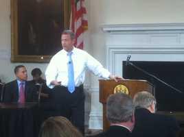 Gov. Martin O'Malley makes the budget presentation.