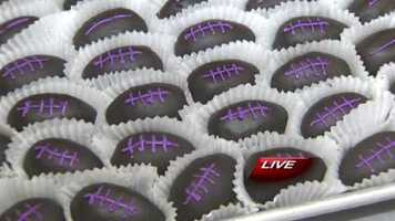 The bakery is famous for their little Ravens football cakes.  They can be found online at TheFenwickBakery.com.