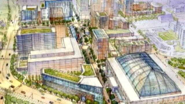 State Center redevelopment project, artist rendering