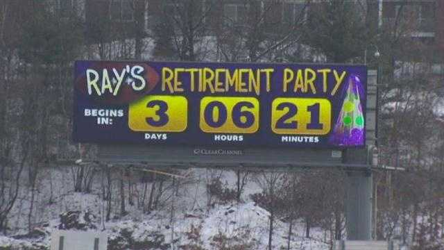This billboard is up around the Boston area, counting down Ray Lewis' retirement party -- after Sunday's game.