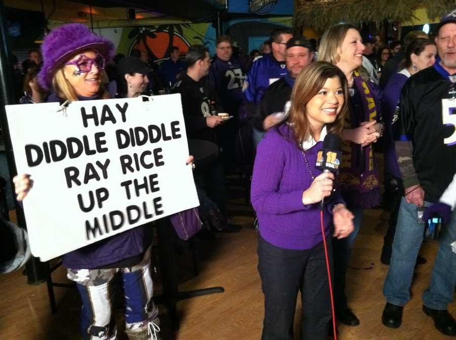 Crowds gathered at the House of Rock in White Marsh for the first stop of the Purple Caravan, and 11 News reporter Kim Dacey joined them.