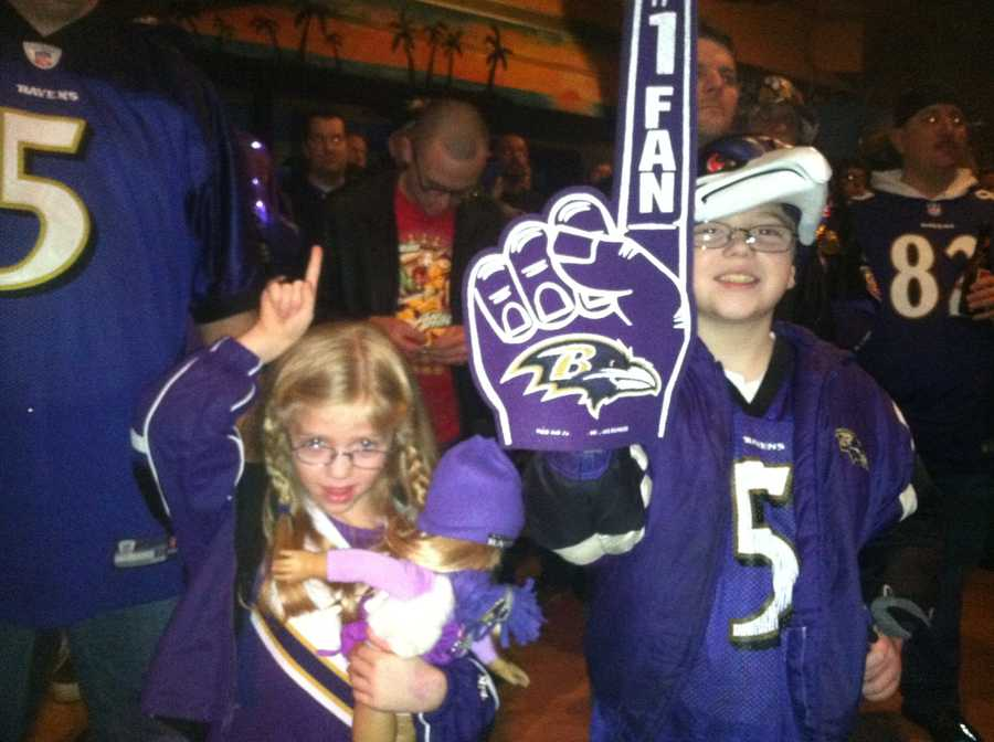 Even some young fans got up early to celebrate.