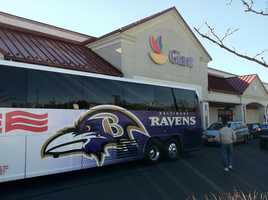 The third stop of the day for the Ravens Caravan in Abingdon.