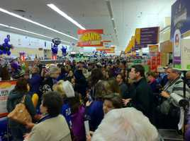 It was packed at the Giant for the Ravens Rally during the Purple Friday Caravan stop in Abingdon.