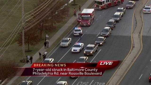 Rosedale child struck by car scene