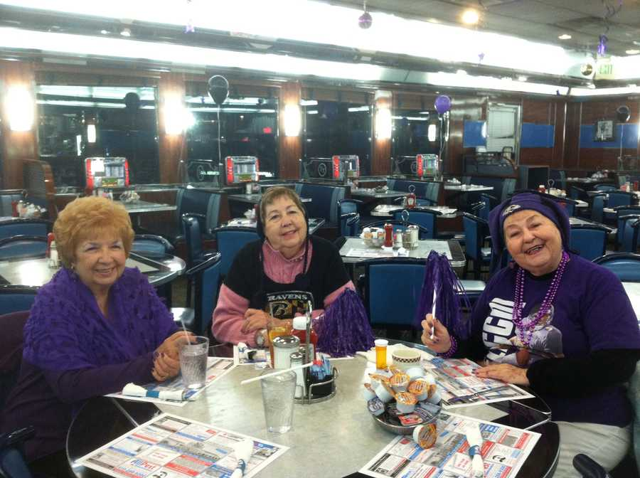 Double T Diner in Perry Hall customers wanted their  purple pride to rise and shine early.WBAL-TV/Kim Dacey