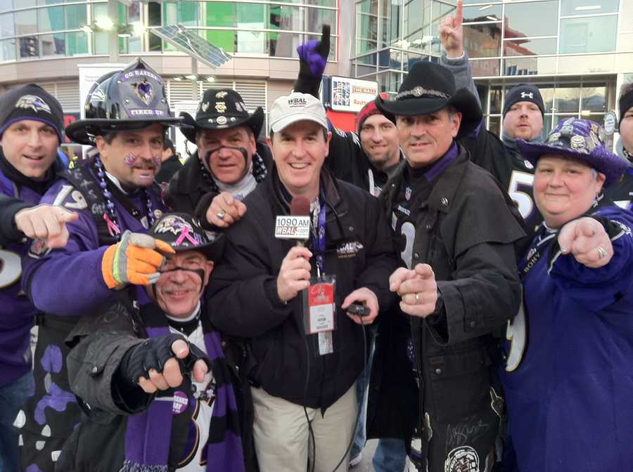 Look who is in the middle of a purple wave at Gillette Stadium.
