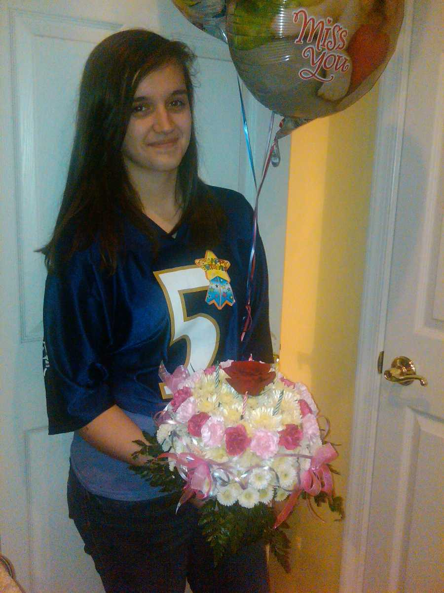 Today (Sunday) is Maria Jenkins 13 and hoping for a Ravens win!