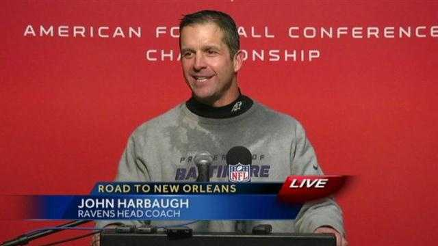 """It's a team victory. It takes a team to get a win like this, and we have a great football team,"" head coach John Harbaugh said."