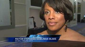 """My voice is a little raspy because I've been screaming because there are no words. This is our date with destiny,"" Baltimore Mayor Stephanie Rawlings-Blake said on the Ravens heading to the Super Bowl. ""It's incredible."""