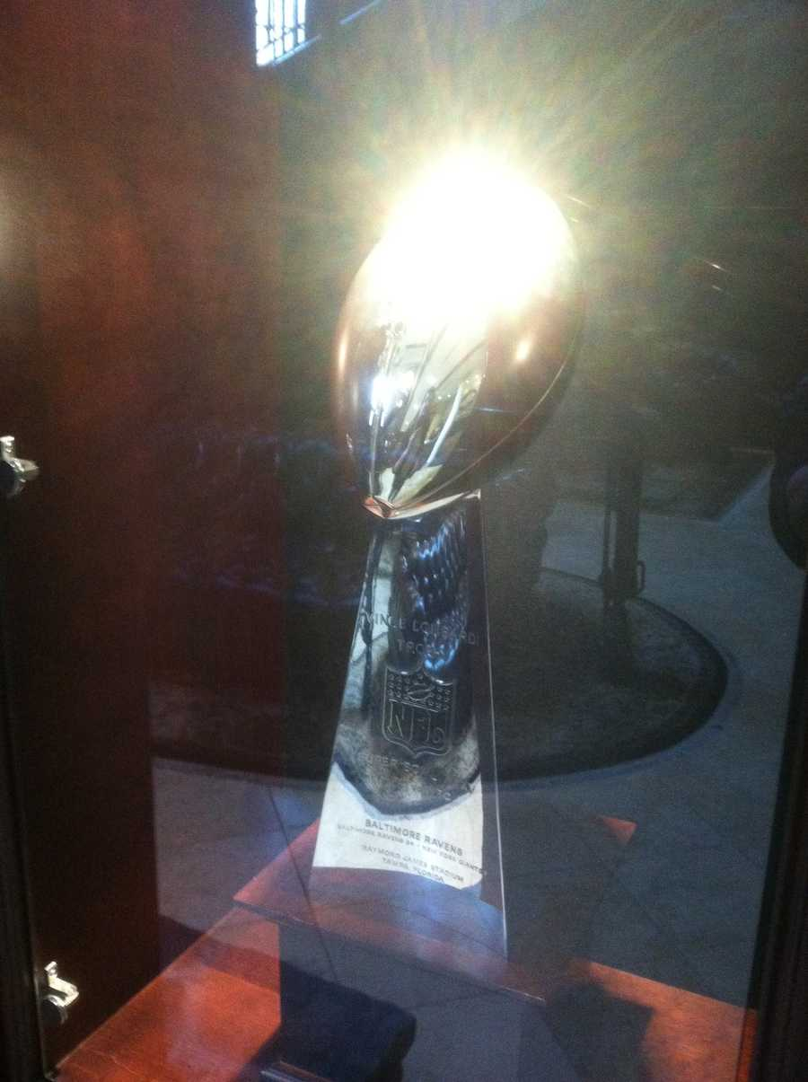 The coveted hardware, the Lombardi Trophy, up for grabs as the Ravens face the 49ers at the Super Bowl.
