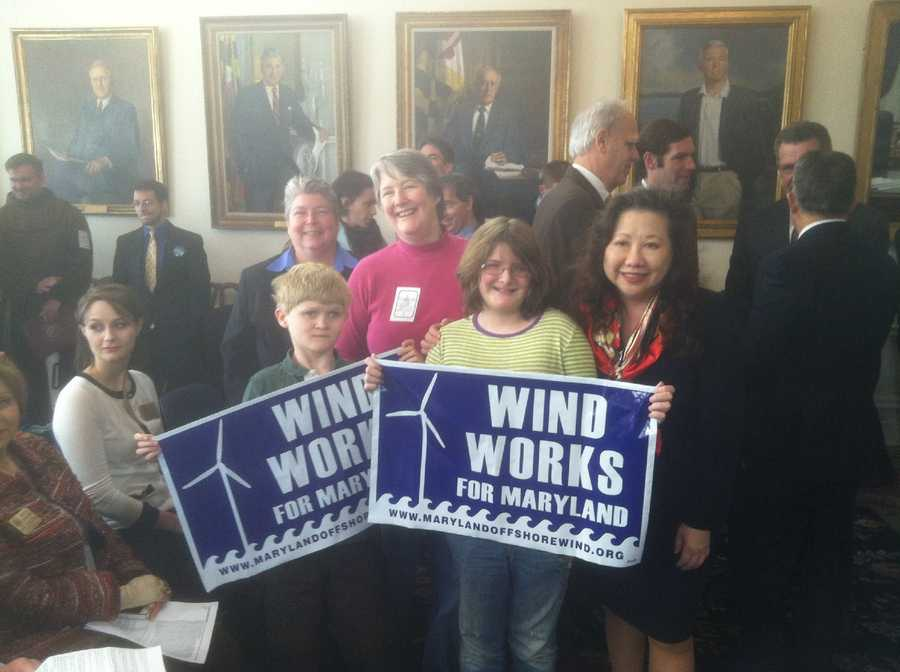 Wind energy bill supporters.