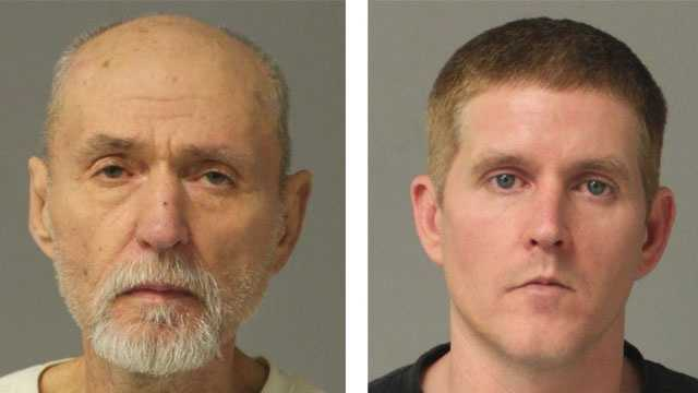 Donald Earl McCarty Jr., 61, (left) and Donald Earl McCarty III, 39, (right) were arrested and charged after Pasadena drug bust, police say.