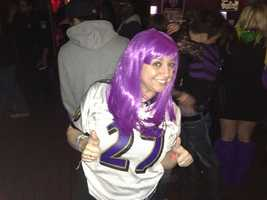 A Baltimore Ravens fan in Federal Hill.