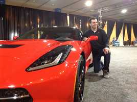 As Super Bowl MVP, Flacco gets to do cool stuff, like check out this new Corvette Stingray.