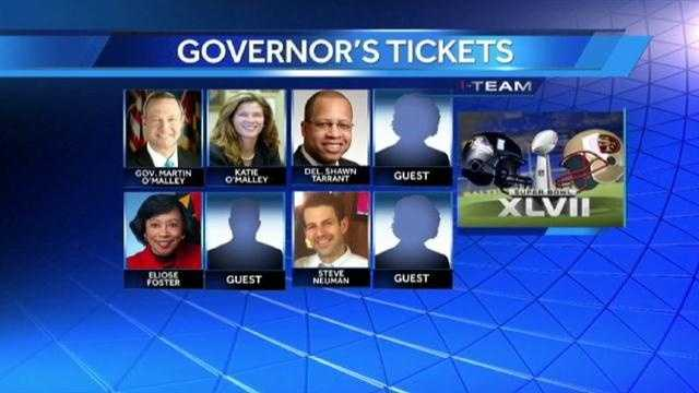Governor's super bowl ticket guests