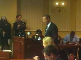 Gov. Martin O'Malley testifies on the wind energy bill.
