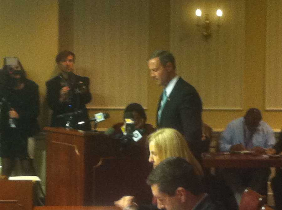 Gov. Martin O'Malley testifies on the wind energy bill.