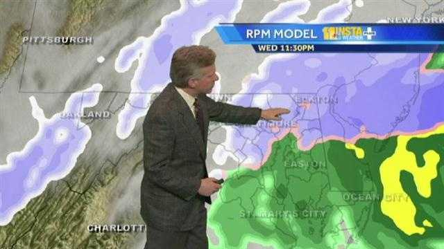 During the Wednesday evening weather forecast, Tom talks about the upcoming snow expected in our region.